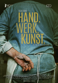 """Filmplakat für """"Scultura - Hand. Werk. Kunst."""""""