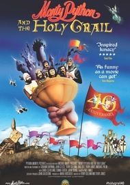 "Movie poster for ""MONTY PYTHON AND THE HOLY GRAIL / SING-A-LONG VERSION (HD Remastered) HONORING TERRY JONES"""