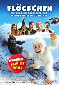 """Filmplakat für """"Flöckchen - Die grossen Abenteuer des kleinen weißen Gorillas!"""""""
