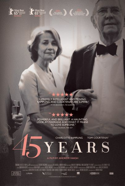 """Movie poster for """"45 YEARS"""""""