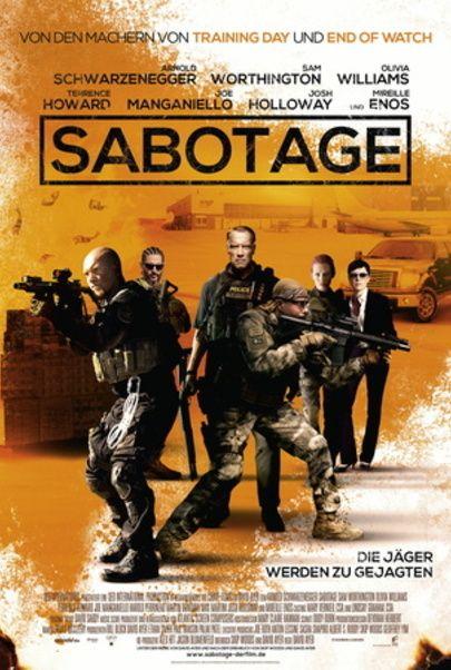 "Movie poster for ""SABOTAGE"""