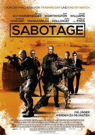 "Movie poster for ""SABOTAGE"""