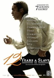 """Movie poster for """"12 YEARS A SLAVE"""""""