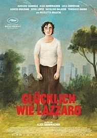 """Movie poster for """"HAPPY AS LAZZARO"""""""