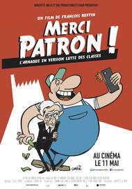 "Movie poster for ""MERCI PATRON !"""