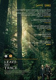 """Movie poster for """"LEAVE NO TRACE"""""""