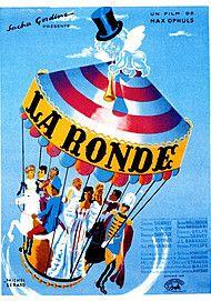 "Movie poster for ""LA RONDE"""