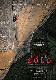 """Movie poster for """"FREE SOLO"""""""