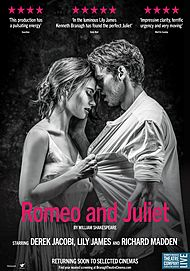 """Movie poster for """"ROMEO & JULIET (Branagh Theatre Co.)"""""""
