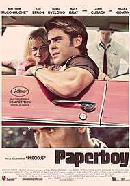 """Movie poster for """"THE PAPERBOY"""""""