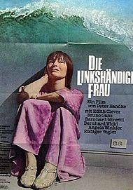 """Filmplakat für """"Die linkshändige Frau"""""""