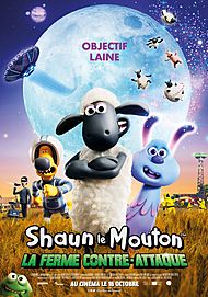 "Movie poster for ""SHAUN THE SHEEP  MOVIE: FARMAGEDDON"""
