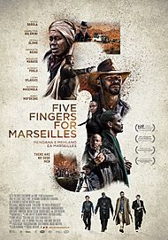 "Movie poster for ""Five Fingers for Marseilles"""