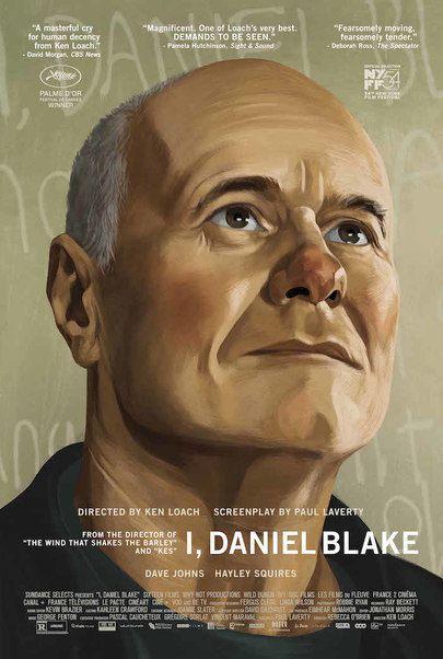 """Movie poster for """"I DANIEL BLAKE"""""""