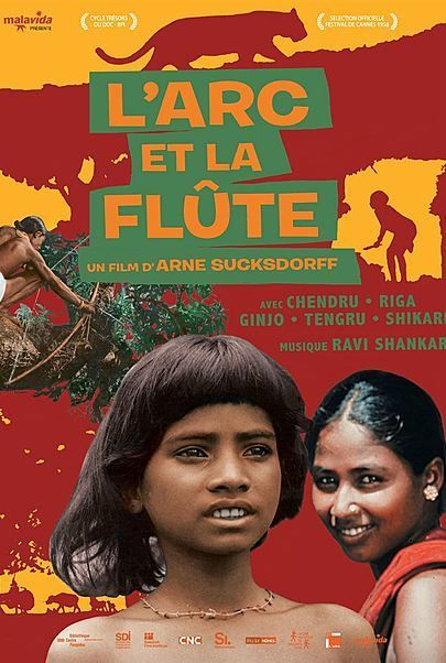 """Movie poster for """"THE FLUTE AND THE ARROW"""""""