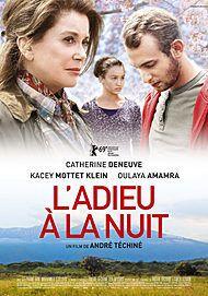 """Affiche du film """"L'ADIEU A LA NUIT"""""""