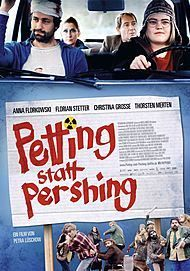 "Movie poster for ""PETTING STATT PERSHING"""