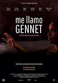 """Movie poster for """"ME LLAMO GENNET"""""""