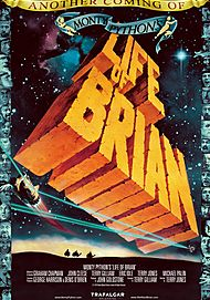 "Movie poster for ""MONTY PYTHON'S LIFE OF BRIAN"""