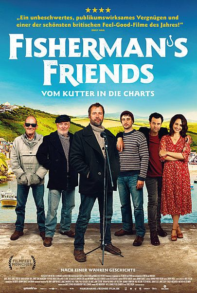 """Movie poster for """"FISHERMAN'S FRIENDS"""""""