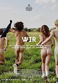 """Movie poster for """"Wir - der Sommer, als wir unsere Röcke hoben und die Welt gegen die Wand fuhr"""""""