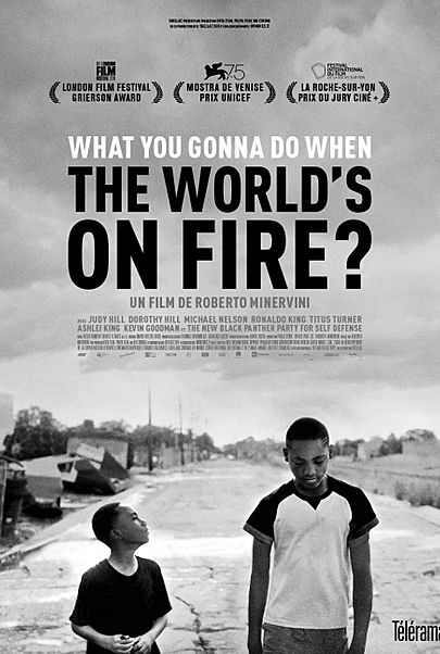 """Movie poster for """"WHAT YOU GONNA DO WHEN THE WORLD'S ON FIRE?"""""""