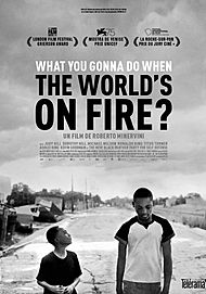 "Movie poster for ""WHAT YOU GONNA DO WHEN THE WORLD'S ON FIRE?"""