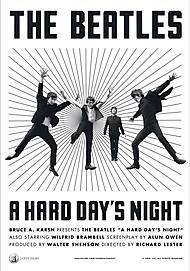"Movie poster for ""A HARD DAY'S NIGHT"""
