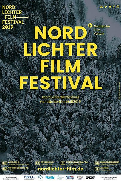 """Filmplakat für """"NORDLICHTER FILMFESTIVAL 2019"""""""