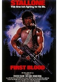 "Movie poster for ""RAMBO: FIRST BLOOD"""