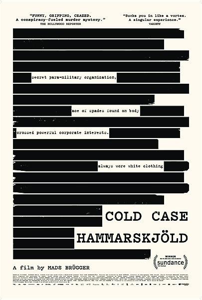 """Movie poster for """"COLD CASE HAMMARSKJÖLD"""""""