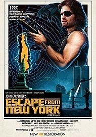 """Movie poster for """"ESCAPE FROM NEW YORK"""""""