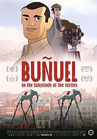 """Movie poster for """"BUÑUEL IN THE LABRYTINTH OF THE TURTLES  """""""