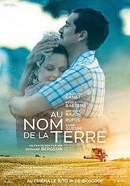 "Movie poster for ""AU NOM DE LA TERRE"""