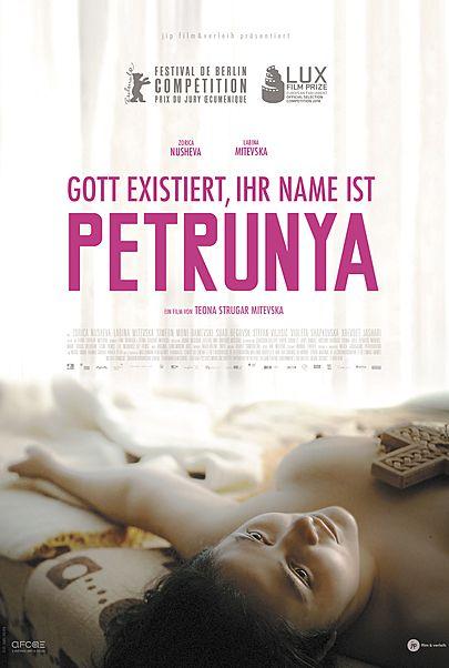 """Filmplakat für """"GOTT EXISTIERT, IHR NAME IST PETRUNYA"""""""