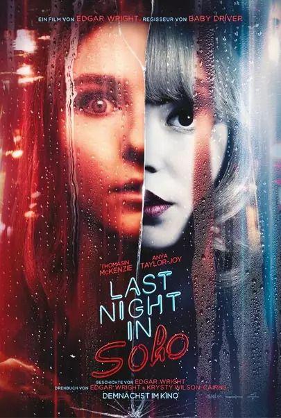 "Movie poster for ""LAST NIGHT IN SOHO"""