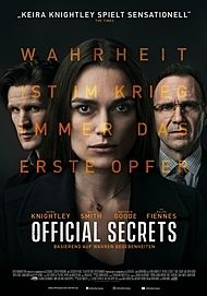 """Movie poster for """"OFFICIAL SECRETS"""""""