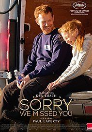"""Movie poster for """"SORRY WE MISSED YOU"""""""