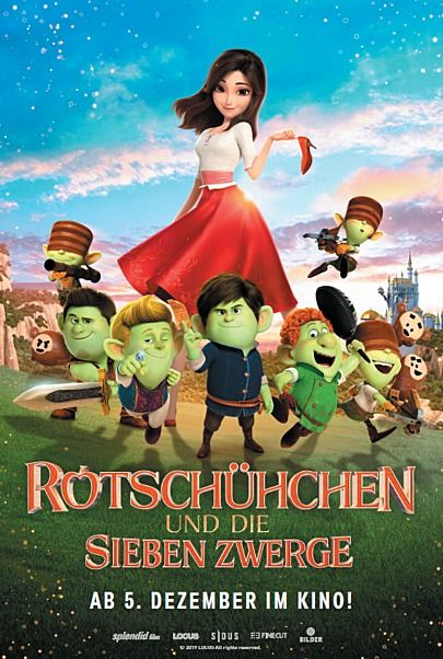 """Movie poster for """"RED SHOES AND THE SEVEN DWARFS"""""""