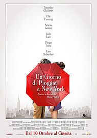 "Movie poster for ""UN GIORNO DI PIOGGIA A NEW YORK"""