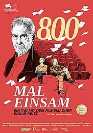 """Movie poster for """"800 MAL EINSAM - EIN TAG MIT DEM FILMEMACHER EDGAR REITZ"""""""
