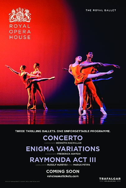 """Movie poster for """"CONCERTO / ENIGMA VARIATIONS / RAYMONDA ACT III - ROYAL OPERA HOUSE 2019/20"""""""