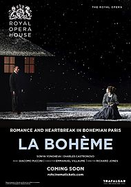 "Movie poster for ""LA BOHEME - ROYAL OPERA HOUSE 2019/20"""