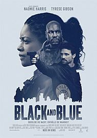 """Movie poster for """"BLACK AND BLUE"""""""