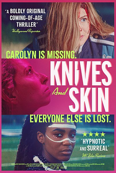 """Movie poster for """"KNIVES AND SKIN"""""""