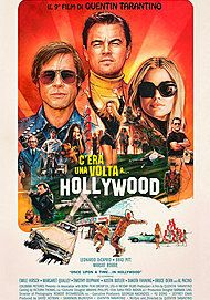 "Movie poster for ""ONCE UPON A TIME... IN HOLLYWOOD"""