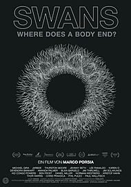 """Movie poster for """"SWANS - WHERE DOES A BODY END?"""""""