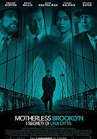 "Movie poster for ""MOTHERLESS BROOKLYN - I SEGRETI DI UNA CITTÀ"""