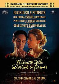 """Movie poster for """"PORTRAIT OF A LADY ON FIRE"""""""