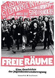 """Filmplakat für """"FREIE RÄUME - EINE GESCHICHTE DER JUGENDZENTRUMSBEWEGUNG"""""""